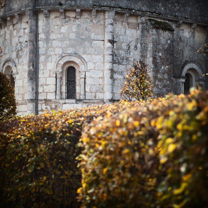 Château Fourcas Hosten église automne
